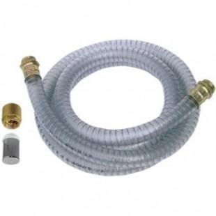 PVC смукателен маркуч Ф 25 mm със смукател 1,6 m