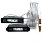 Капилярен термометър за вграждане 68x14 mm, 0÷120 °C, капиляр 1,5 m