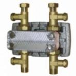 Пластинчат топлообменник с топлоизолация и фитинги S2-16 пластини