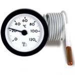 Капилярен високотемпературен термометър за вграждане Ø57,5 mm, 50-350°C, капиляр 1,5 m