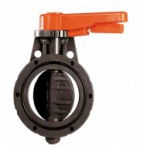 PVC бътерфлай клапа Wafer DN100 PN10