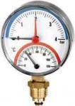 """Термоманометър радиален Ø80 mm TIRM80 0-10bar 0-120°C 1/2"""""""