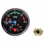 "Термоманометър aксиален Wika THM10 Ø80 mm 0-6bar 0-120°C 1/2"""