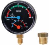 "Термоманометър радиален Wika THM10 Ø80 mm 0-4bar 0-120°C 1/2"""