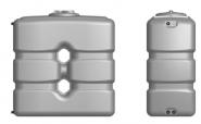 Резервоар за питейна вода паралелепипед Elbi CP 2000 л, син