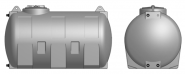 Резервоар за питейна вода хоризонтален Elbi CHO 300 л, син