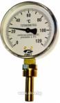"Биметален термометър радиален TBR80-100, 0-120 °C, Ø80mm, гилза 100mm, G1/2"""