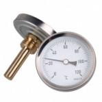 """Биметален термометър аксиален TB63-100, 0-200 °C, Ø63mm, гилза 100mm, G1/2"""""""