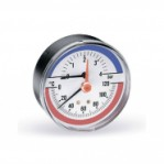 "Термоманометър aксиален Ø80 mm TIM80 0-4bar 0-120°C 1/2"""